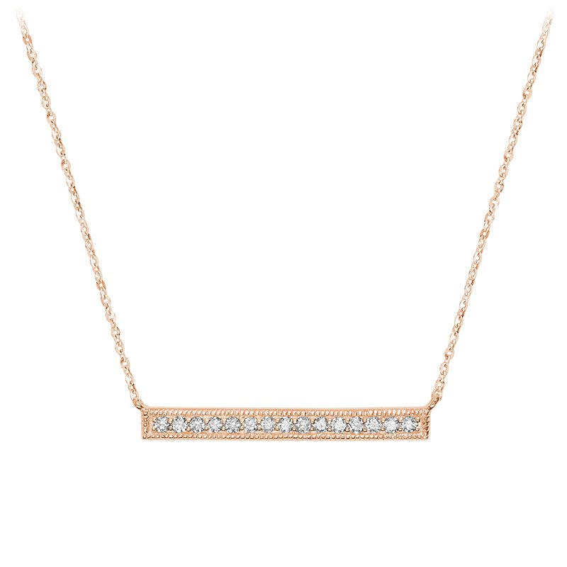 RnB Jewellery Horizontal Bar Diamond Necklace