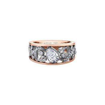 Summer Enchanted Garden Pear Engagement Ring