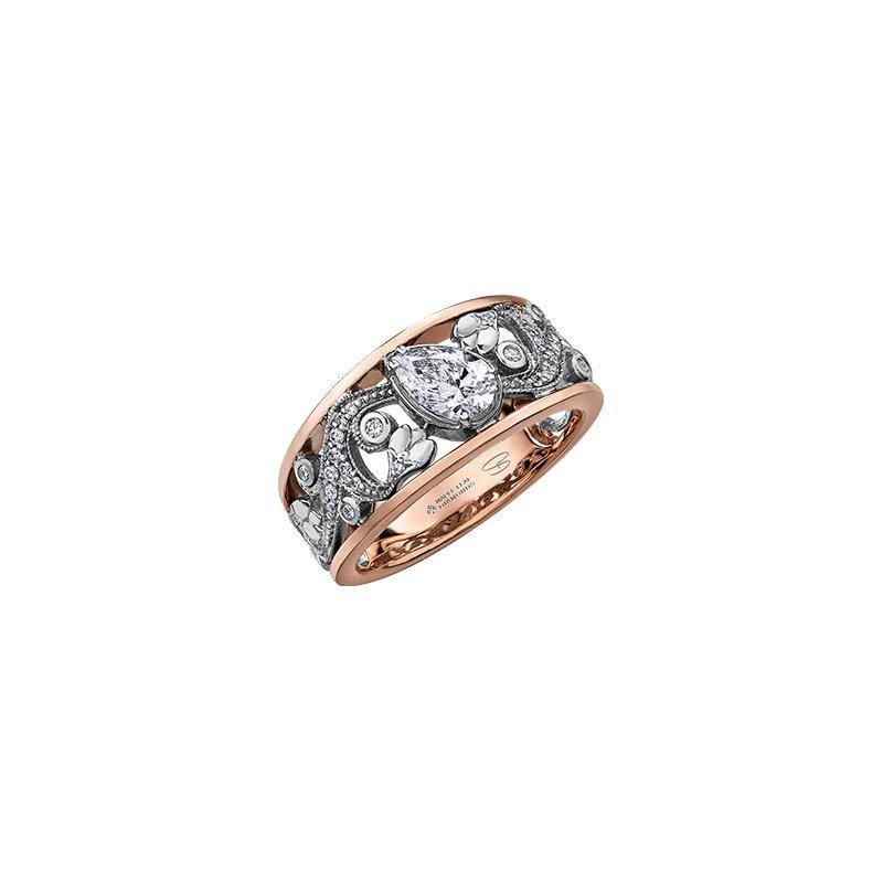 Maple Leaf Diamonds Summer Enchanted Garden Pear Engagement Ring