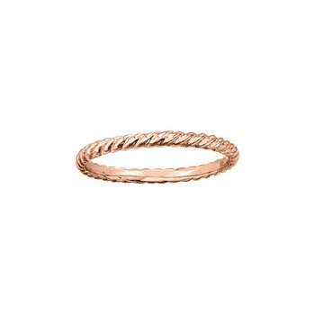 Twist Ring in Rose Gold