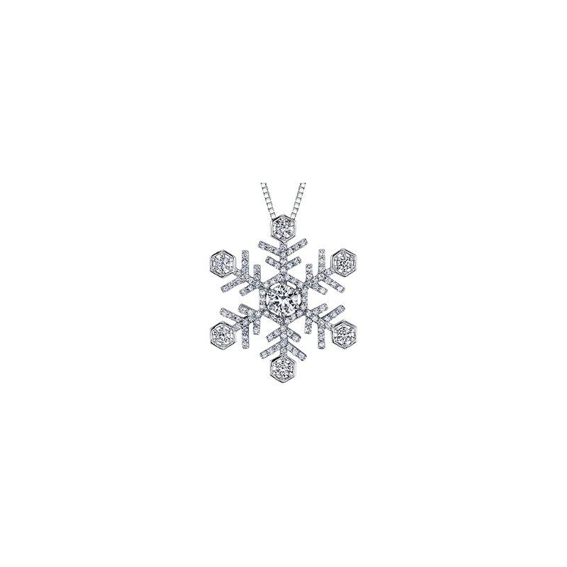 Maple Leaf Diamonds Large Snowflake Pendant