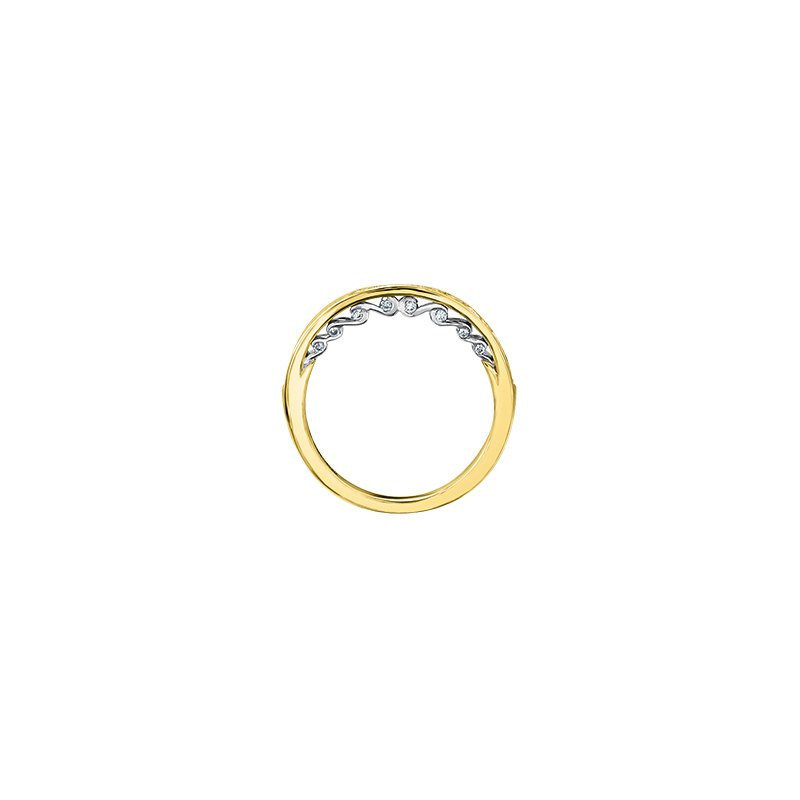 Maple Leaf Diamonds Tides of Love Double Halo Cushion Engagement Ring in Yellow Gold