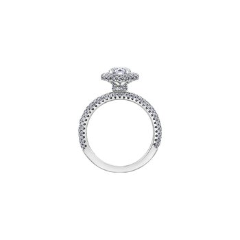 Pave Halo Engagement Ring