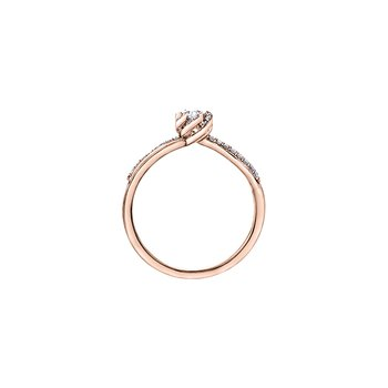 Wind's Embrace Diamond Wrap Oval Engagement Ring in Rose Gold