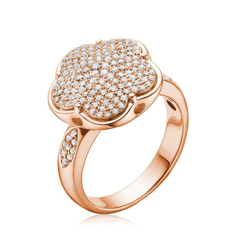 RnB Jewellery Large Pave Diamond Flower Ring