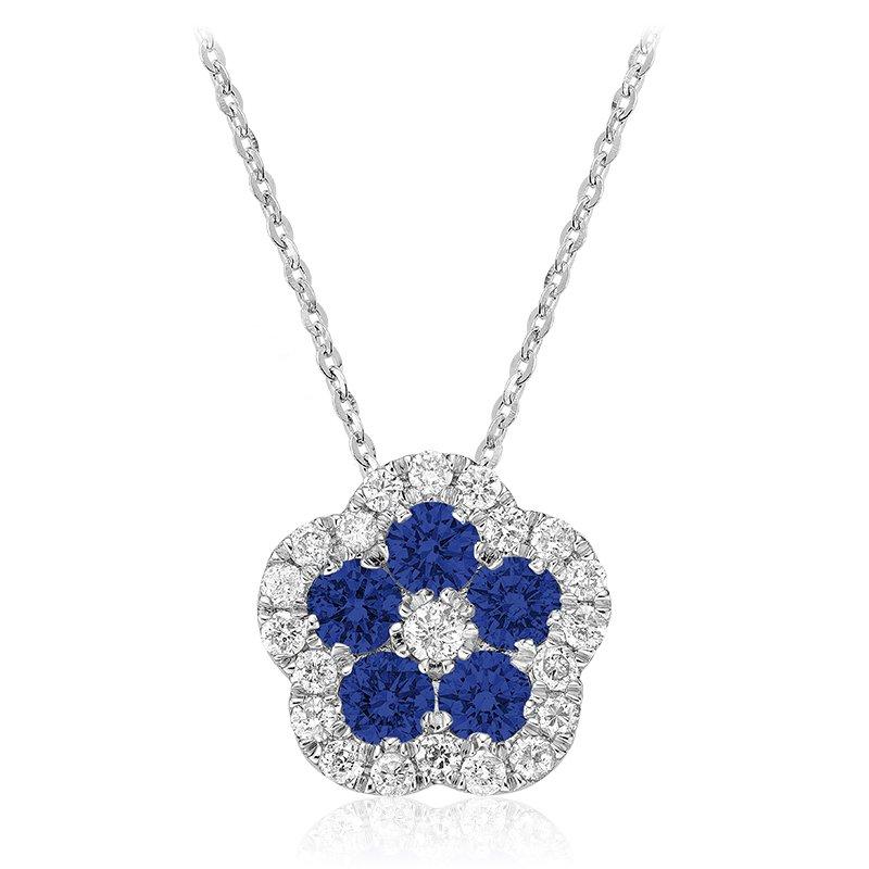 RnB Jewellery Gemstone and Diamond Cluster Pendant