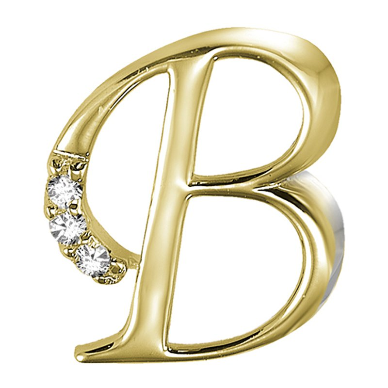 RnB Jewellery Elegant Letter Initials in Yellow Gold