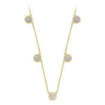 Diamond Pave Circle Station Necklace