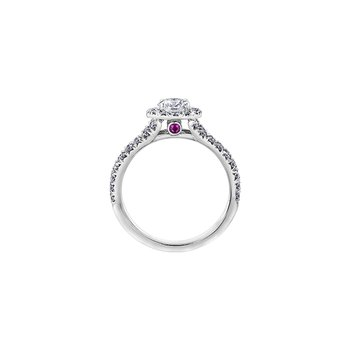 Adoration Split Shoulder Diamond Halo Engagement Ring
