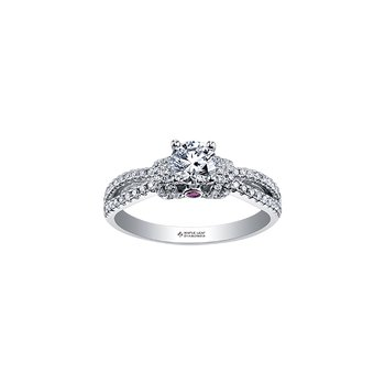 Adoration Split Diamond Band Engagement Ring