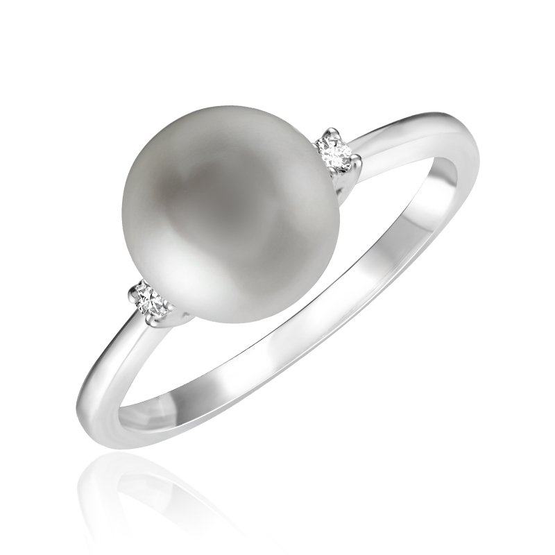 RnB Jewellery Diamond and Pearl Ring