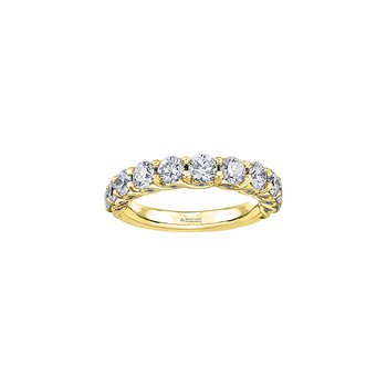 Tides of Love Diamond Band in Yellow Gold