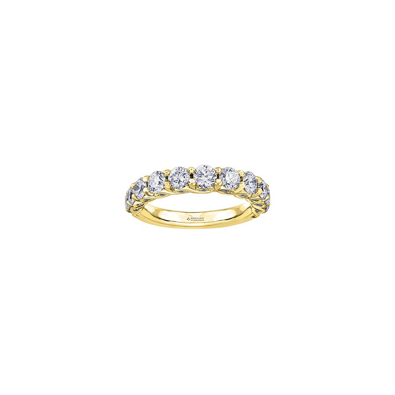Maple Leaf Diamonds Tides of Love Diamond Band in Yellow Gold