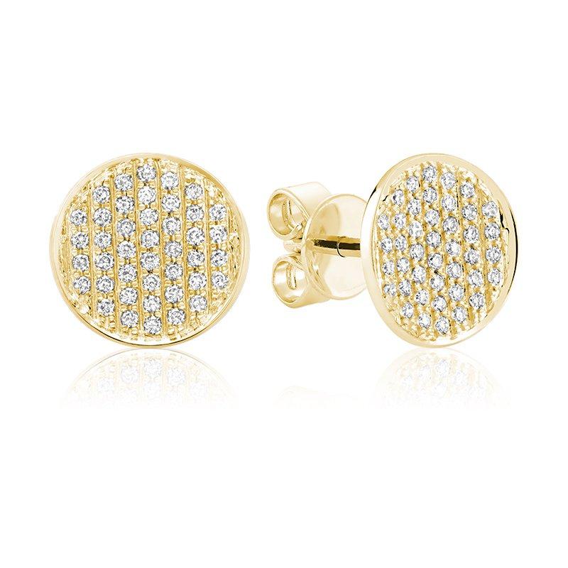 RnB Jewellery Pave Diamond Circle Stud Earrings