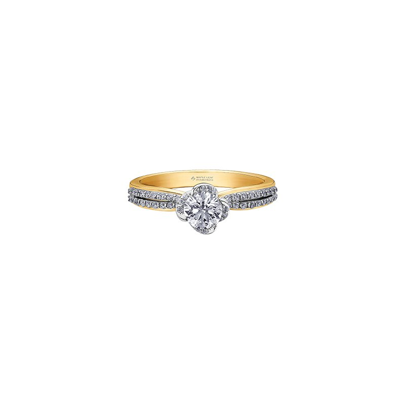 Maple Leaf Diamonds Wind's Embrace Double Band Engagement Ring