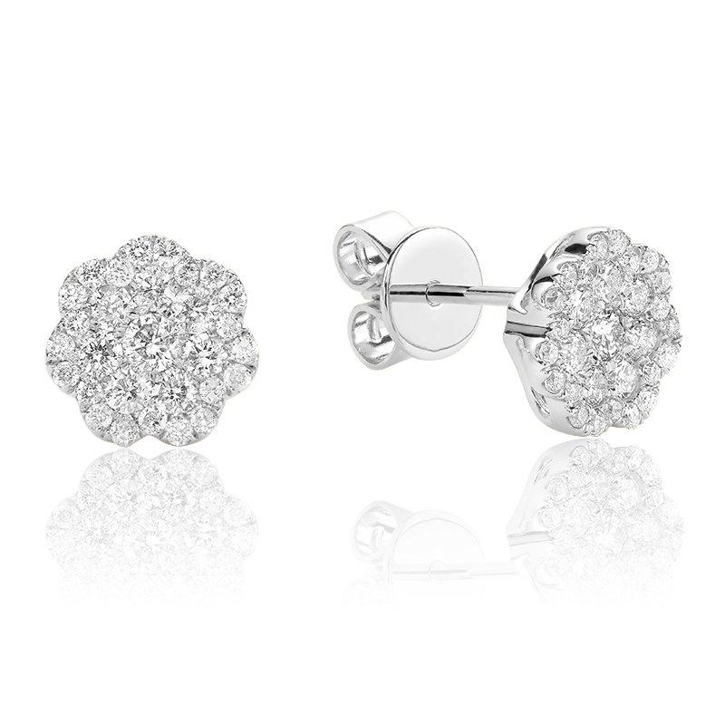 RnB Jewellery Diamond Cluster Stud Earrings
