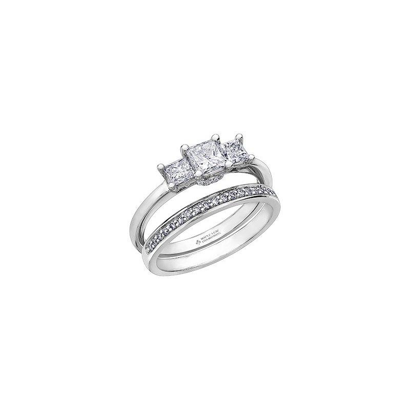 Maple Leaf Diamonds Circle of Love Three Stone Engagement Ring