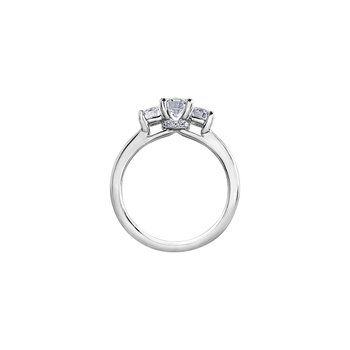 Circle of Love Three Stone Engagement Ring