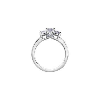 Circle of Love Three Stone Engagement Ring
