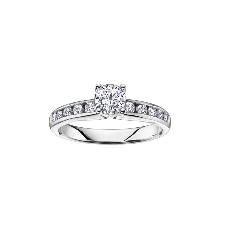 Maple Leaf Diamonds Channel Set Engagement Ring