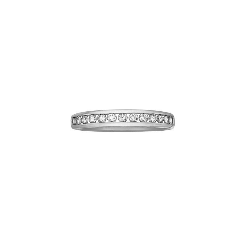 Maple Leaf Diamonds Channel Set Engagement Ring