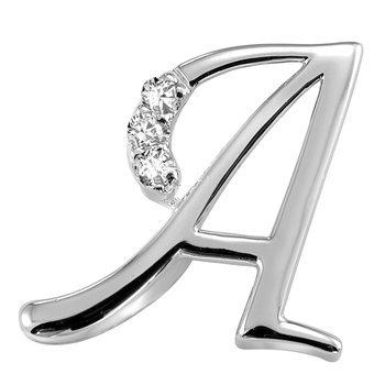 Elegant Letter Initials in White Gold