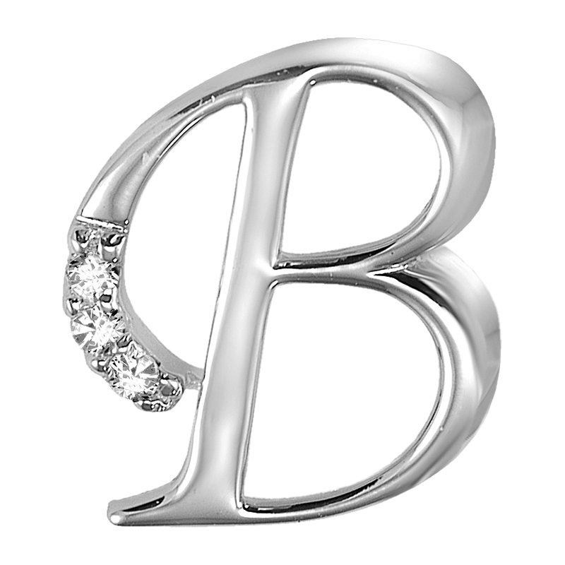 RnB Jewellery Elegant Letter Initials in White Gold