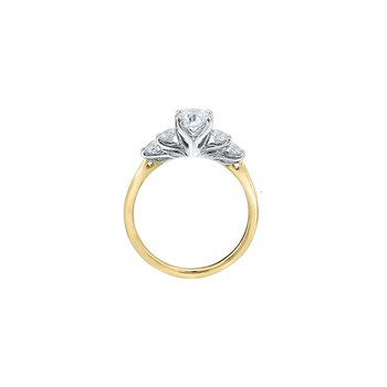 Eternal Flames 5 Stone Engagement Ring in Yellow Gold