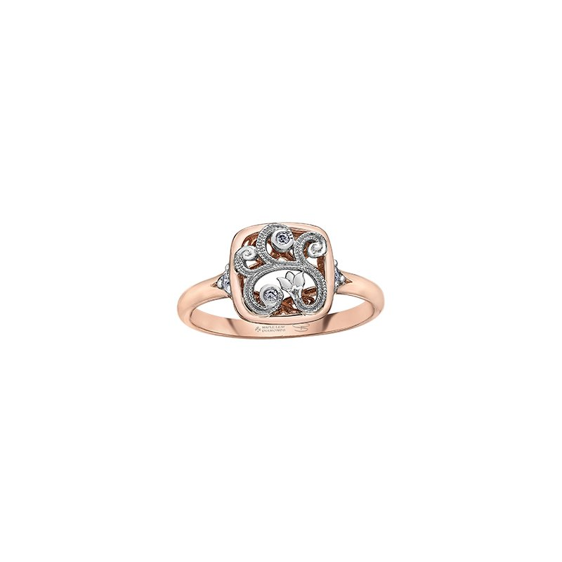Maple Leaf Diamonds Enchanted Garden Window Ring