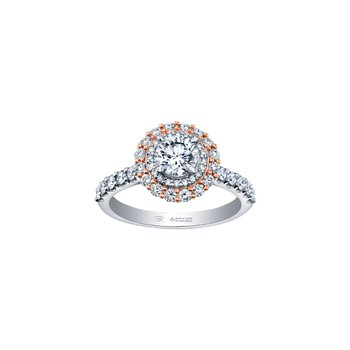 Spring Diamond Lily Petals Engagement Ring