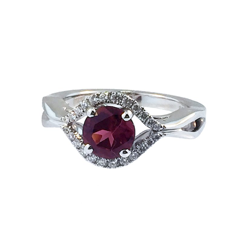 Davidson's Signature Rhodolite Garnet and Diamond Ring