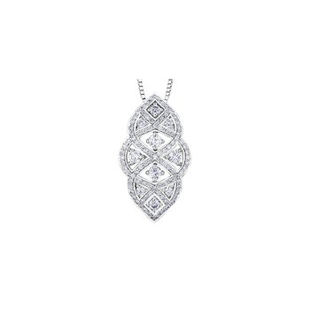 Vintage Inspired Diamond Pendant