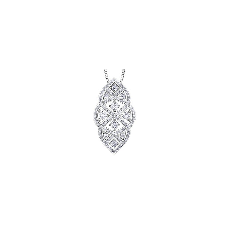Maple Leaf Diamonds Vintage Inspired Diamond Pendant