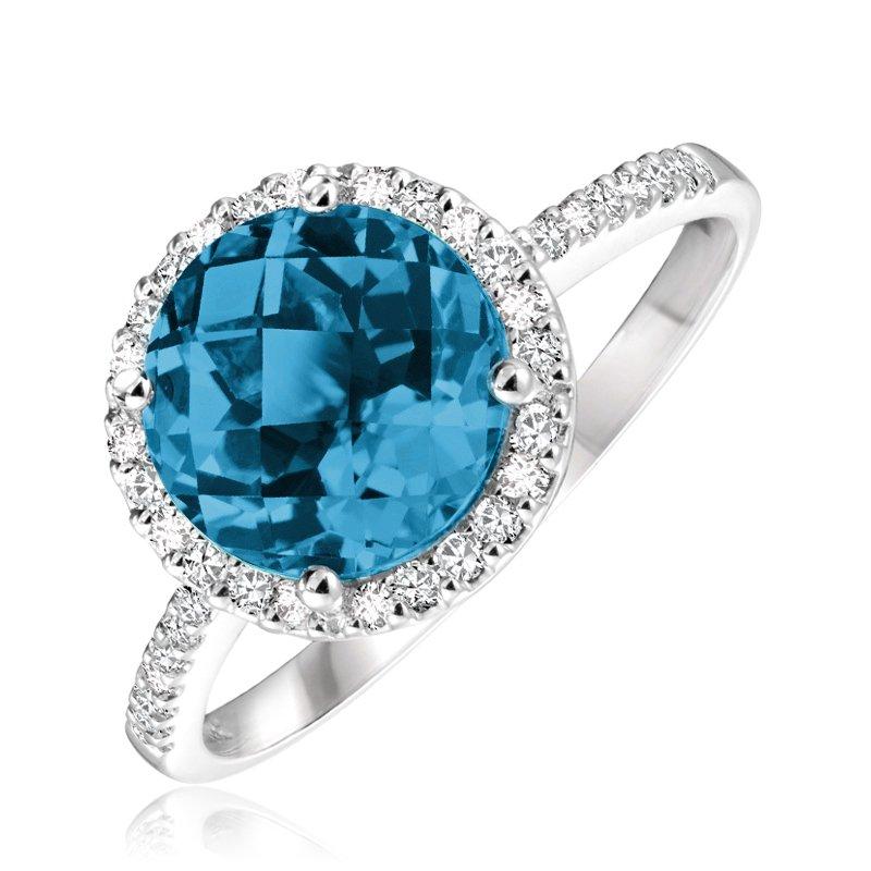 RnB Jewellery Round Gemstone Halo Ring