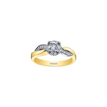Eternal Flames Diamond Wrap Engagement Ring