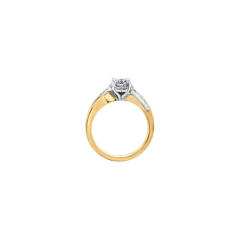 Maple Leaf Diamonds Eternal Flames Diamond Wrap Engagement Ring