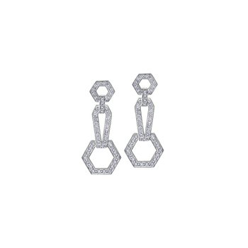 Geometric Diamond Drop Earings