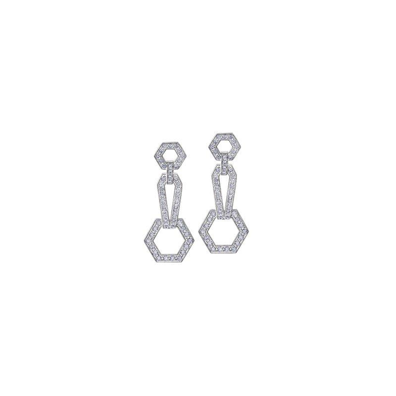 Maple Leaf Diamonds Geometric Diamond Drop Earings