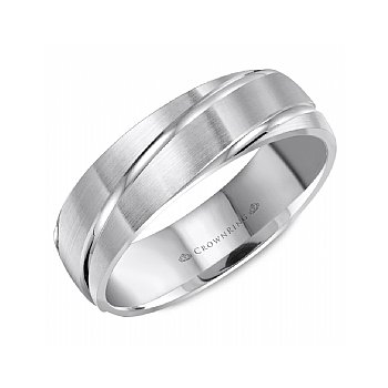 Engraved Stripe Wedding Band