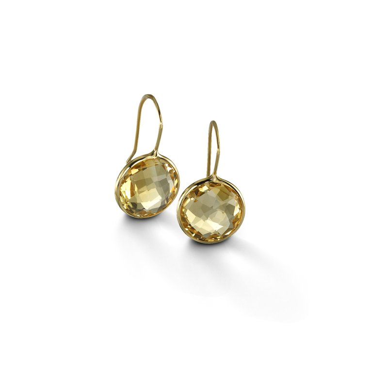 B Couture Large Citrine Drop Earrings
