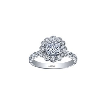 Winter Ice Princess Engagement Ring in White Gold