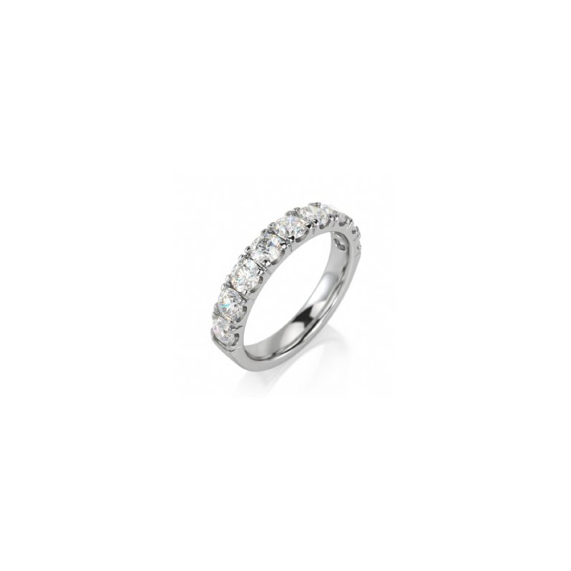 CrownRing Half Way Diamond Set Band
