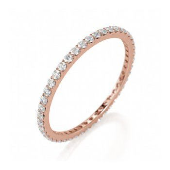 Full Eternity Shared Prong Band in Rose Gold