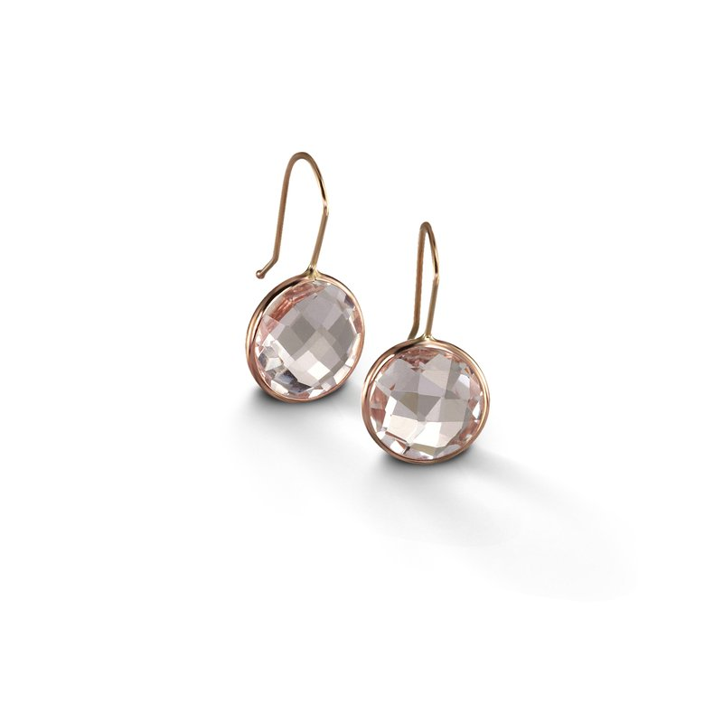 B Couture White Quartz Drop Earrings