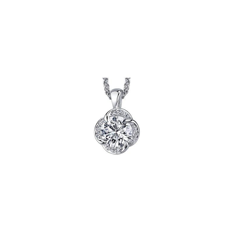 Maple Leaf Diamonds Wind's Embrace Diamond Pendant