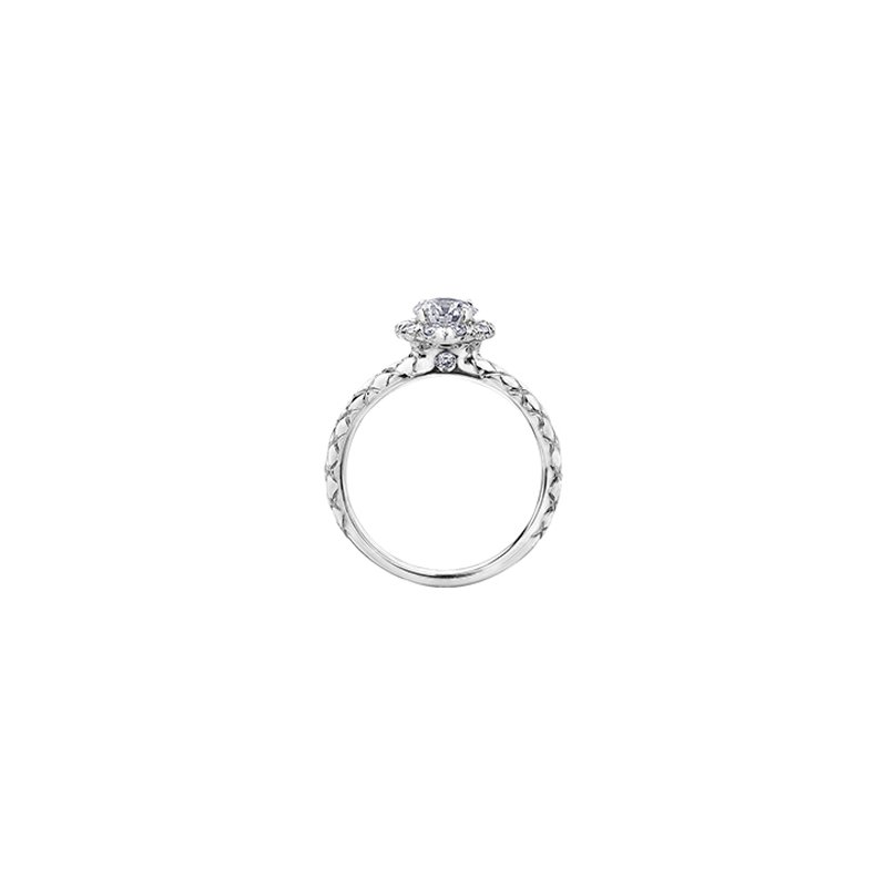 Maple Leaf Diamonds Winter Diamond Fur Halo Engagement Ring