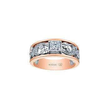 Summer Enchanted Garden Princess Engagement Ring