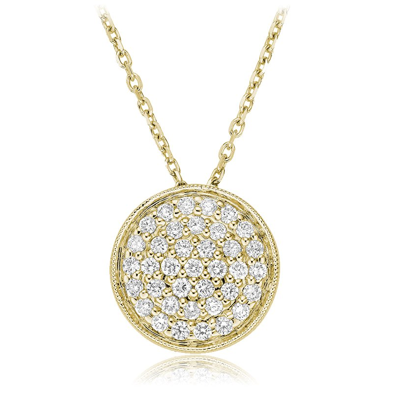 RnB Jewellery Large Pave Diamond Circle Pendant