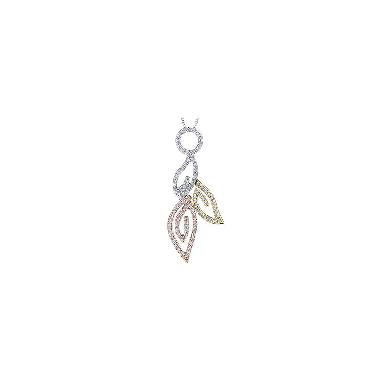 Maple Leaf Diamonds Diamond Leaves Pendant