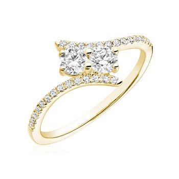Diamond Moi et Toi Ring
